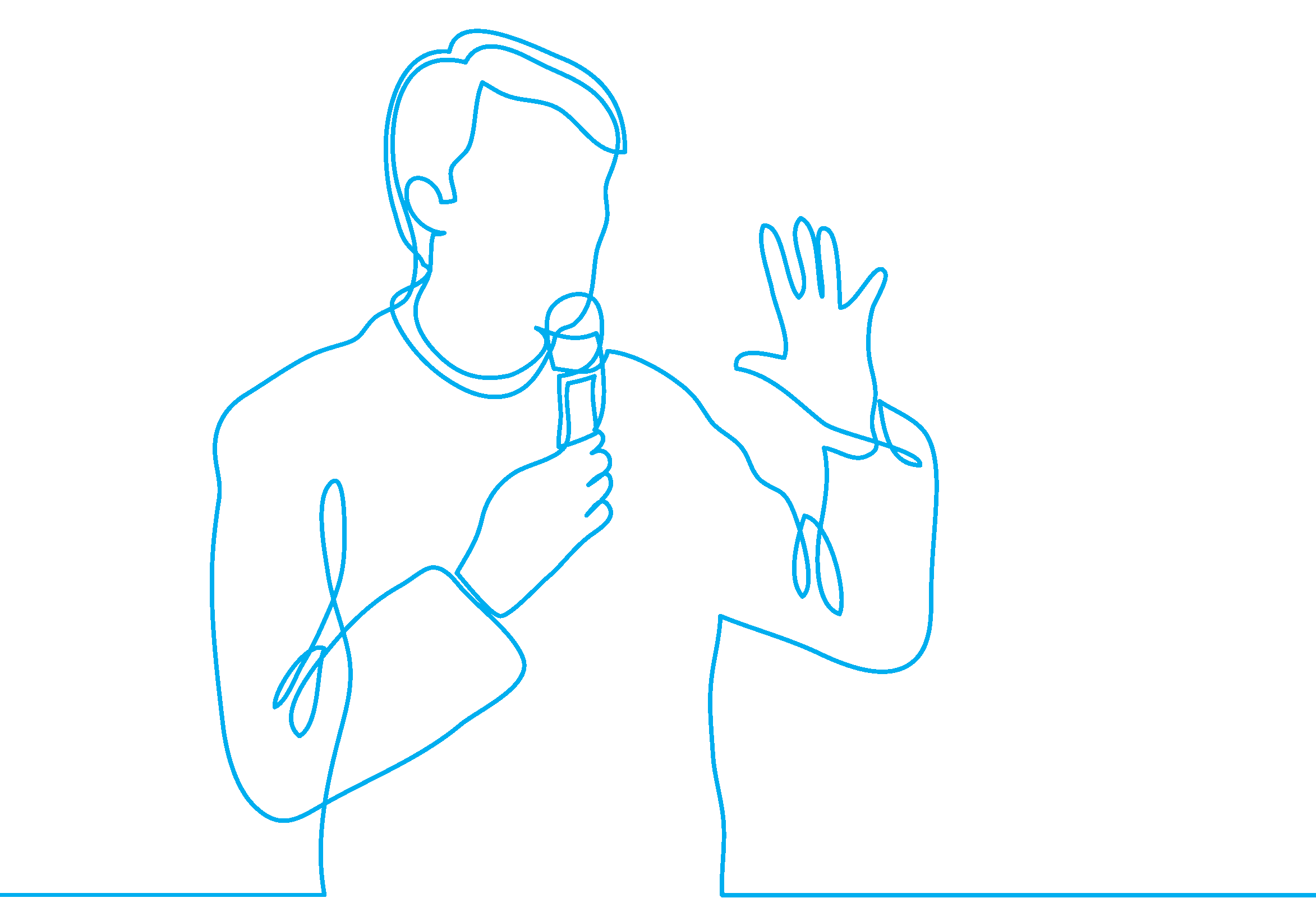 man with microphone illustration